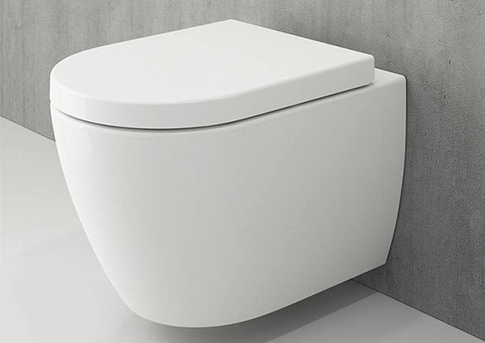Suspended toilet with hydraulic